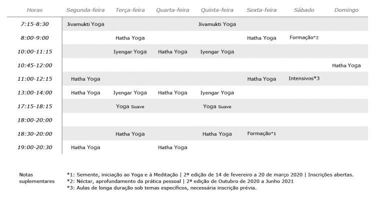 horários yoga lab